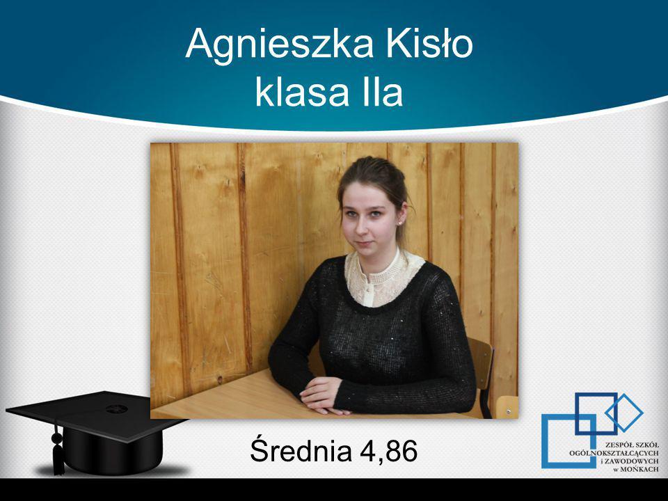 Agnieszka Kisło klasa IIa Średnia 4,86