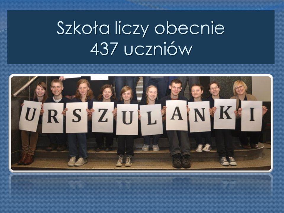 Szkoła liczy obecnie 437 uczniów