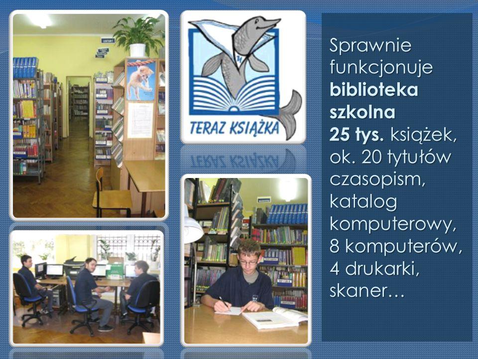 Sprawnie funkcjonuje biblioteka szkolna 25 tys. książek, ok.