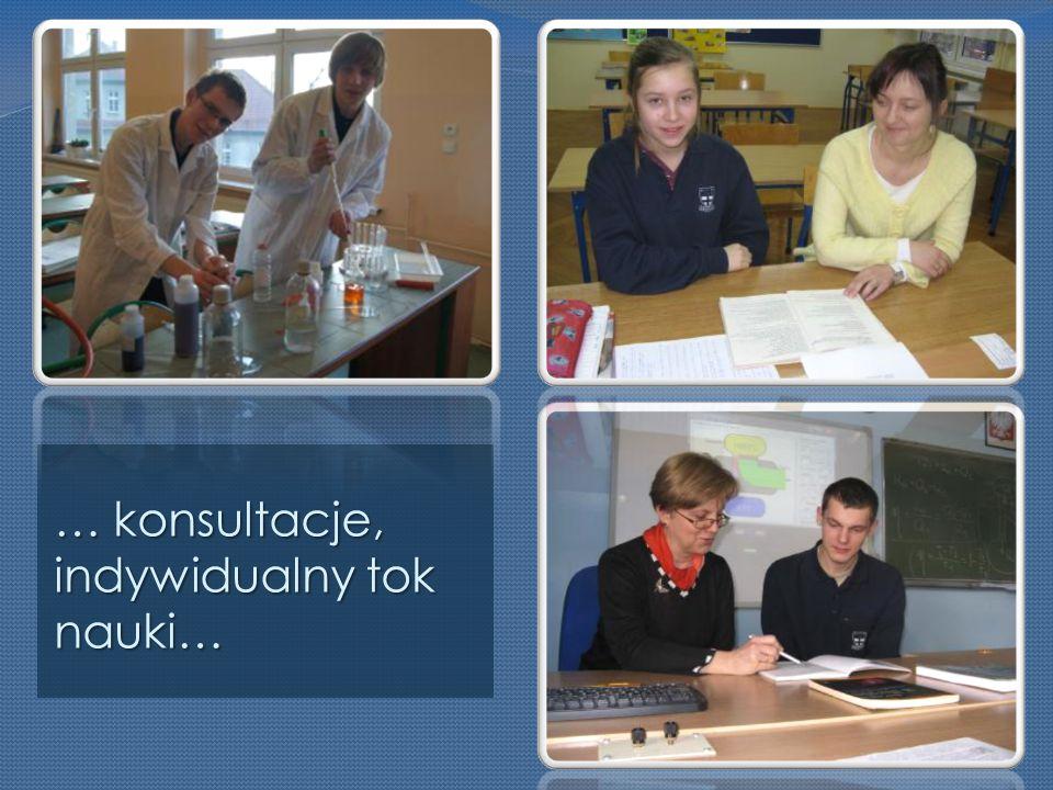 … konsultacje, indywidualny tok nauki…