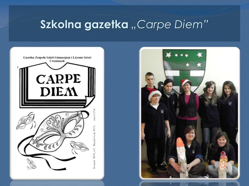 """Szkolna gazetka """"Carpe Diem"""