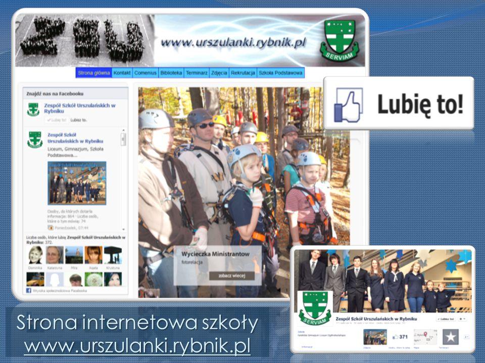 Strona internetowa szkoły www.urszulanki.rybnik.pl www.urszulanki.rybnik.pl
