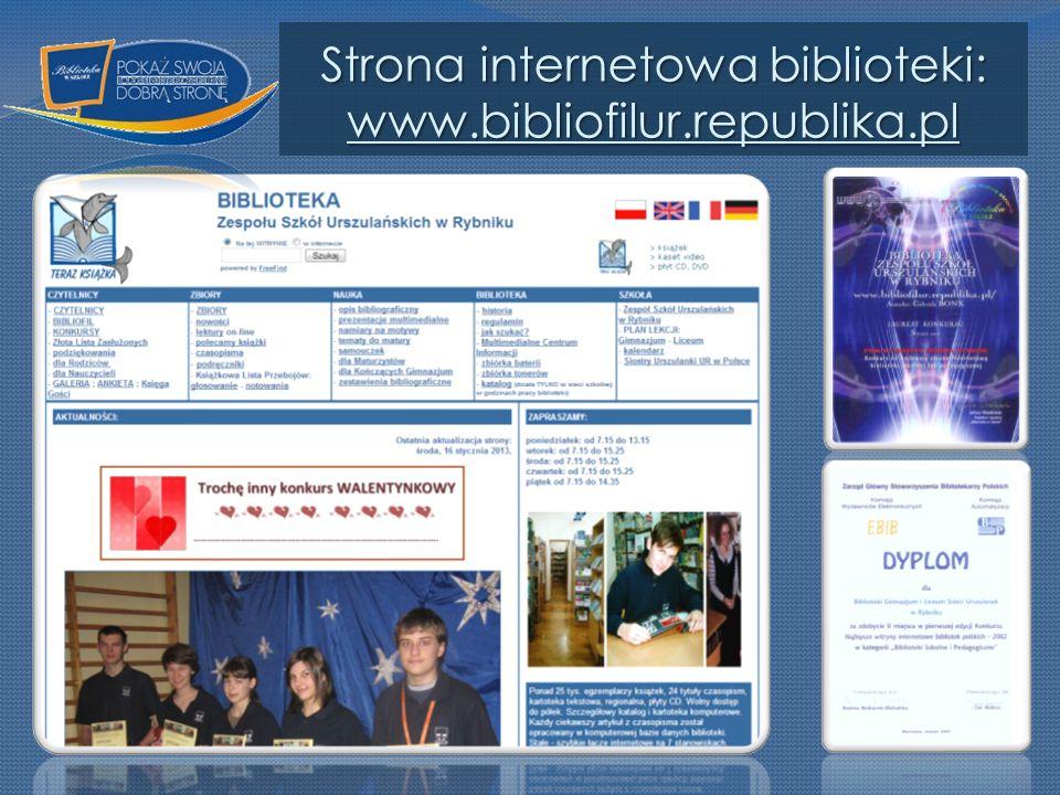 Strona internetowa biblioteki: www.bibliofilur.republika.pl www.bibliofilur.republika.pl