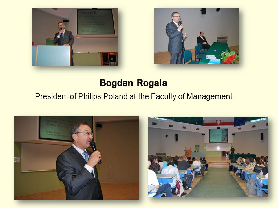 38 Bogdan Rogala President of Philips Poland at the Faculty of Management