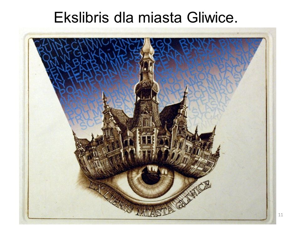 Ekslibris dla miasta Gliwice. 11