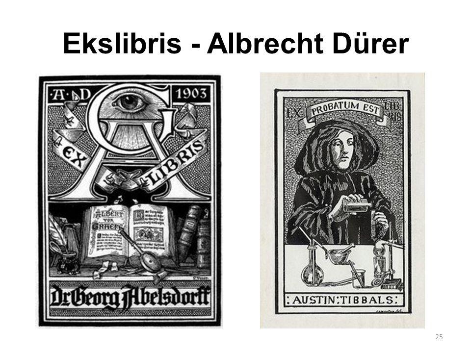 Ekslibris - Albrecht Dürer 25
