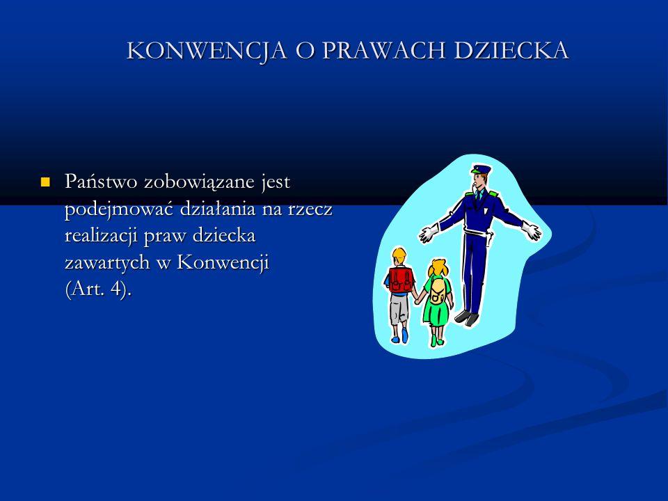 KONWENCJA O PRAWACH DZIECKA Każde dziecko ma prawo do otrzymania środków utrzymania odpowiadających jego potrzebom, a także do korzystania z ubezpieczeń społecznych (Art.