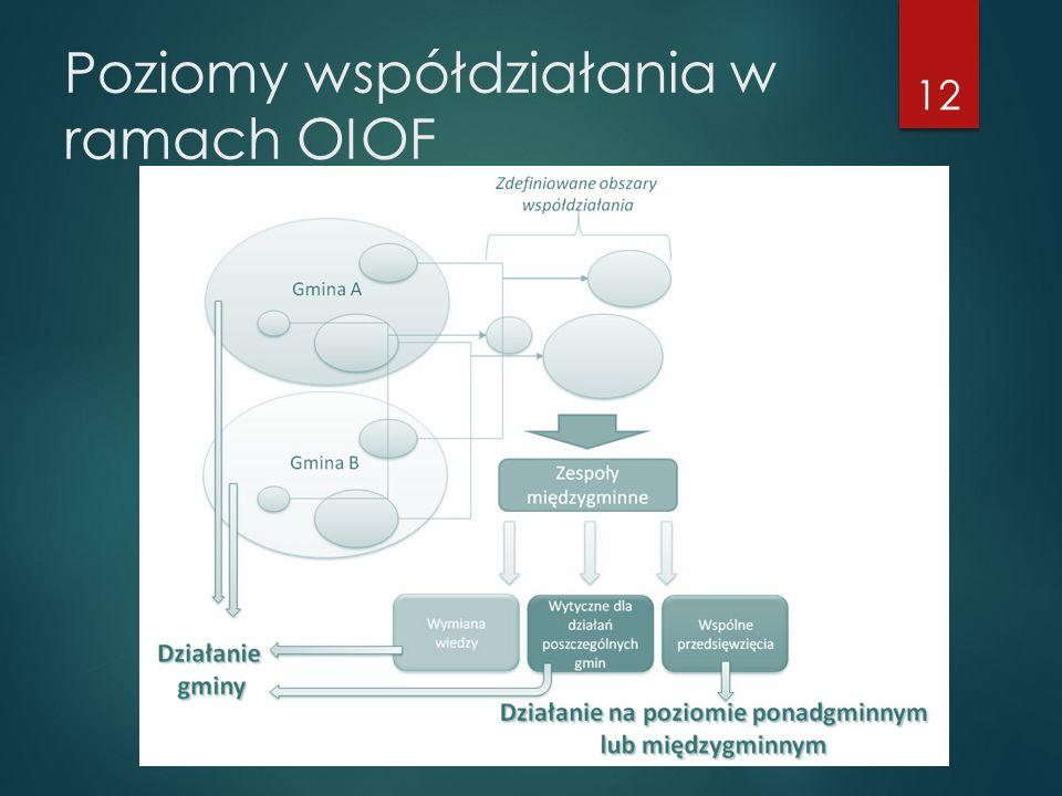 Poziomy współdziałania w ramach OIOF 12