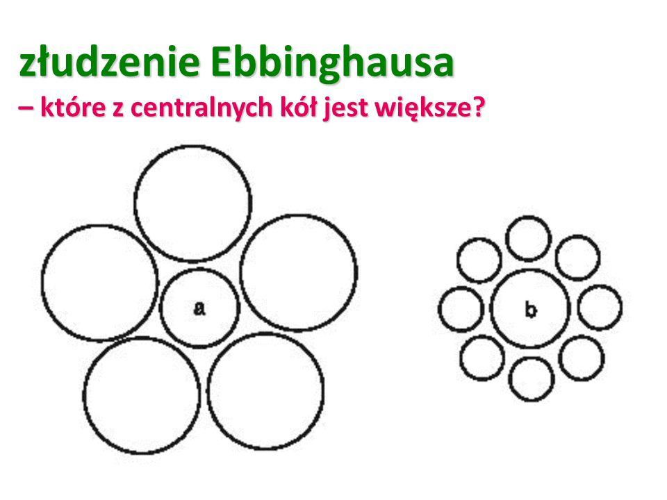 złudzenie Ebbinghausa – które z centralnych kół jest większe?