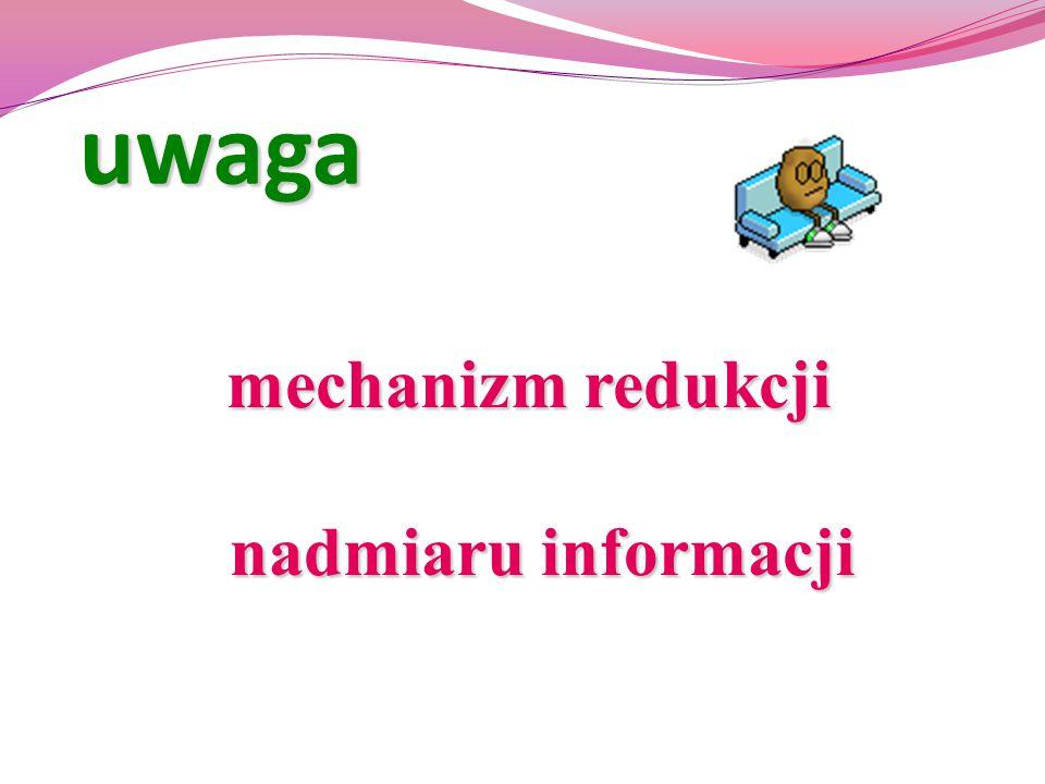uwaga mechanizm redukcji nadmiaru informacji mechanizm redukcji nadmiaru informacji