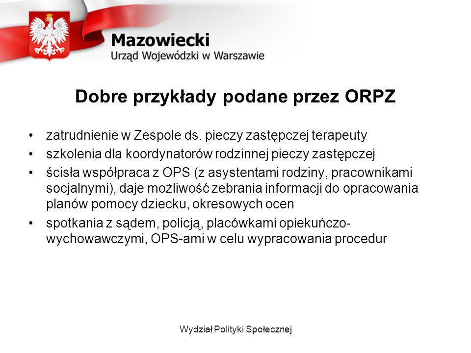Dobre przykłady podane przez ORPZ zatrudnienie w Zespole ds.