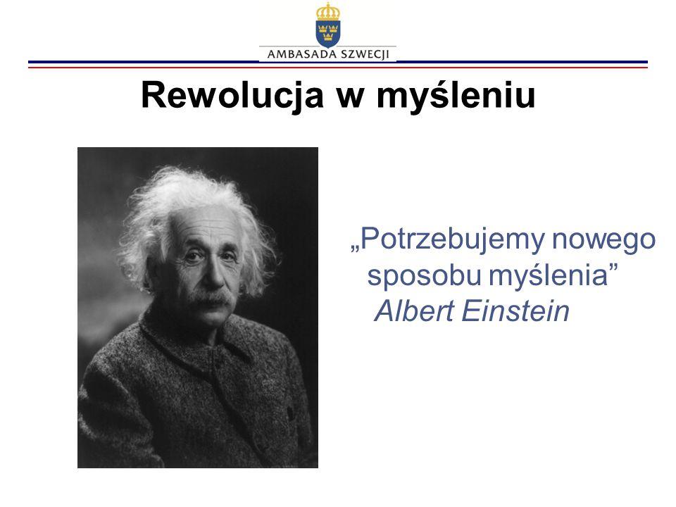 """Rewolucja w myśleniu """"Potrzebujemy nowego sposobu myślenia"""" Albert Einstein"""