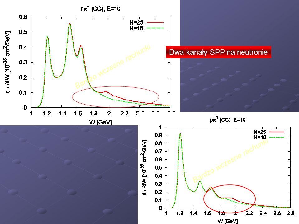 Bardzo wczesne rachunki Dwa kanały SPP na neutronie