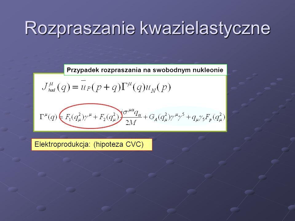 W K2K prawie zawsze mamy do czynienia z mieszanką oddziaływań QE, RES oraz DIS okraszonych efektami jądrowymi M.