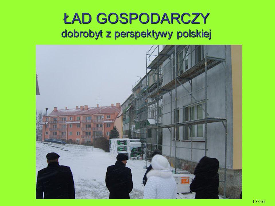 ŁAD GOSPODARCZY dobrobyt z perspektywy polskiej 13/36