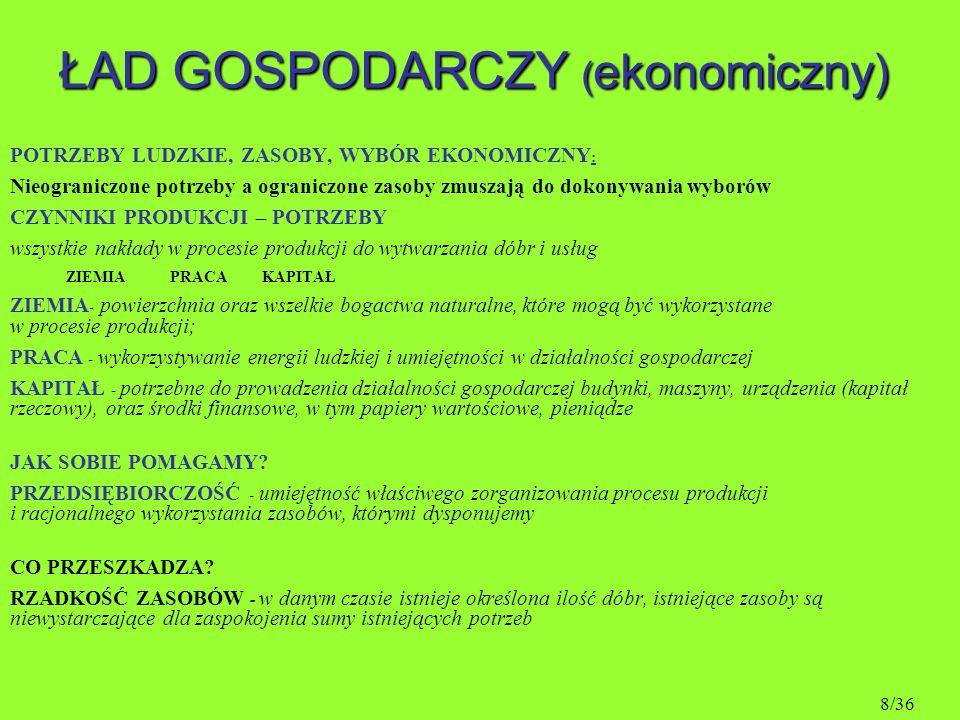 ŁAD SPOŁECZNY dobrobyt w wersji polskiej 29/36
