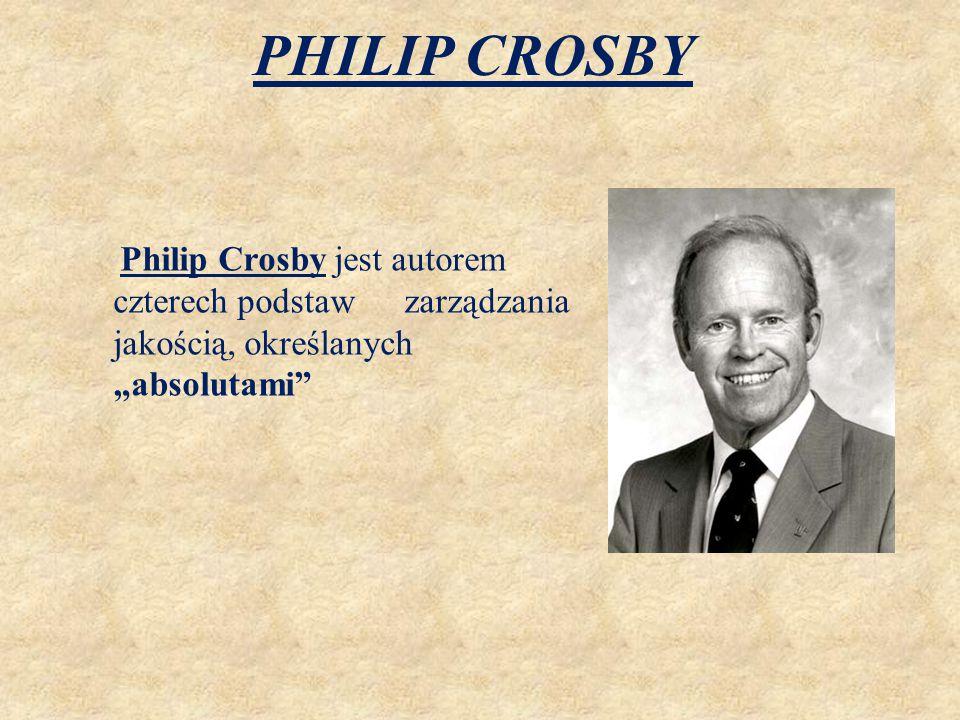 """PHILIP CROSBY Philip Crosby jest autorem czterech podstaw zarządzania jakością, określanych """"absolutami"""""""