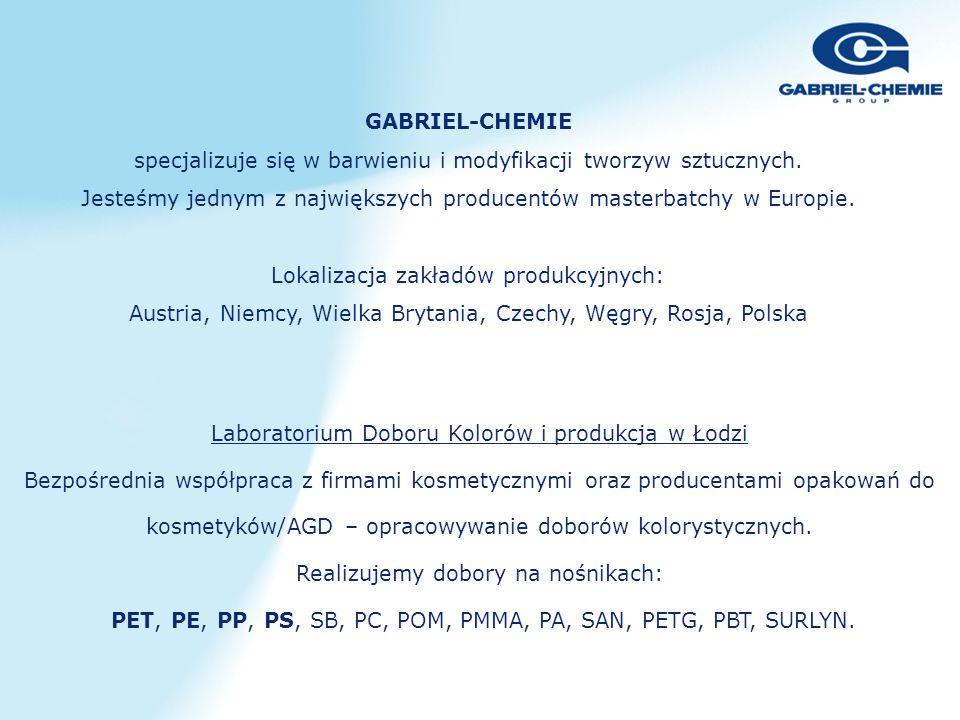 Laboratorium Doboru Kolorów i produkcja w Łodzi Bezpośrednia współpraca z firmami kosmetycznymi oraz producentami opakowań do kosmetyków/AGD – opracow