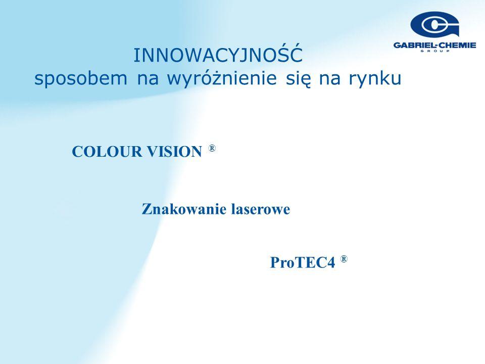 INNOWACYJNOŚĆ sposobem na wyróżnienie się na rynku COLOUR VISION ® Znakowanie laserowe ProTEC4 ®