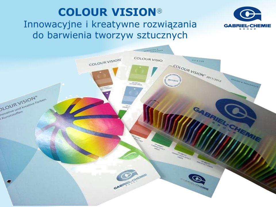 COLOUR VISION ® Innowacyjne i kreatywne rozwiązania do barwienia tworzyw sztucznych