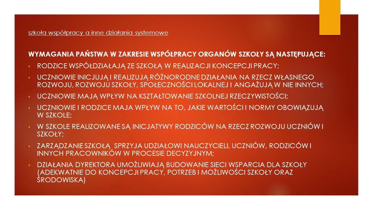 """Cele naszego spotkania 1.Prezentacja najważniejszych informacji o projekcie """"Szkoła współpracy ."""