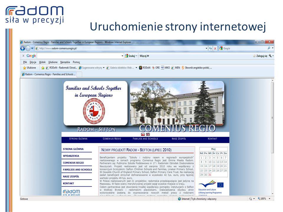 Uruchomienie strony internetowej