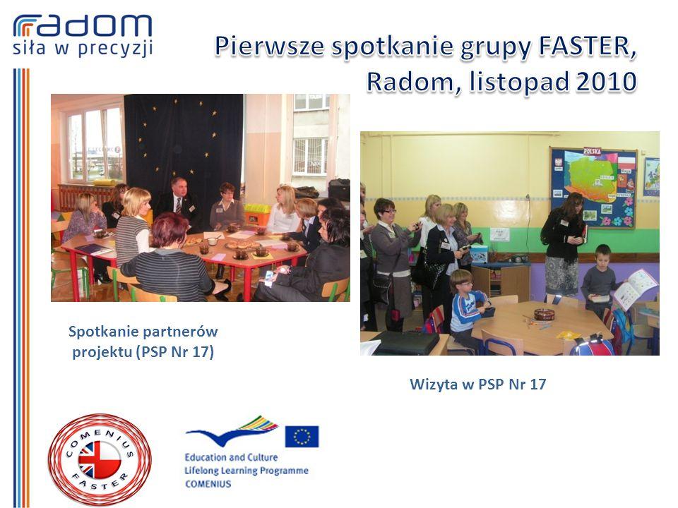 Spotkanie partnerów projektu (PSP Nr 17) Wizyta w PSP Nr 17