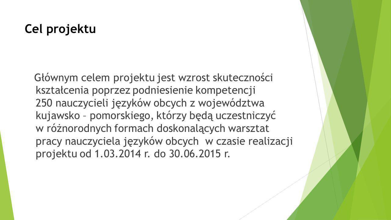 Okres realizacji projektu: 1.03.2014 – 30.06.2015 (16 miesięcy) Wartość projektu: 2.768.051,97 zł