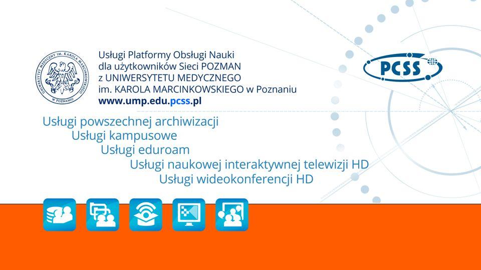 Wideokonferencje HD komunikacja multimedialna w wysokiej jakości obrazie i dźwięku z funkcją rejestracji przebiegu spotkania, jednoczesne nawiązywanie połączeń między dwiema lub więcej lokalizacjami w kraju i za granicą, wykorzystanie dedykowanego sprzętu wideokonferencyjnego licencjonowanych aplikacji lub darmowego (open source) oprogramowania.