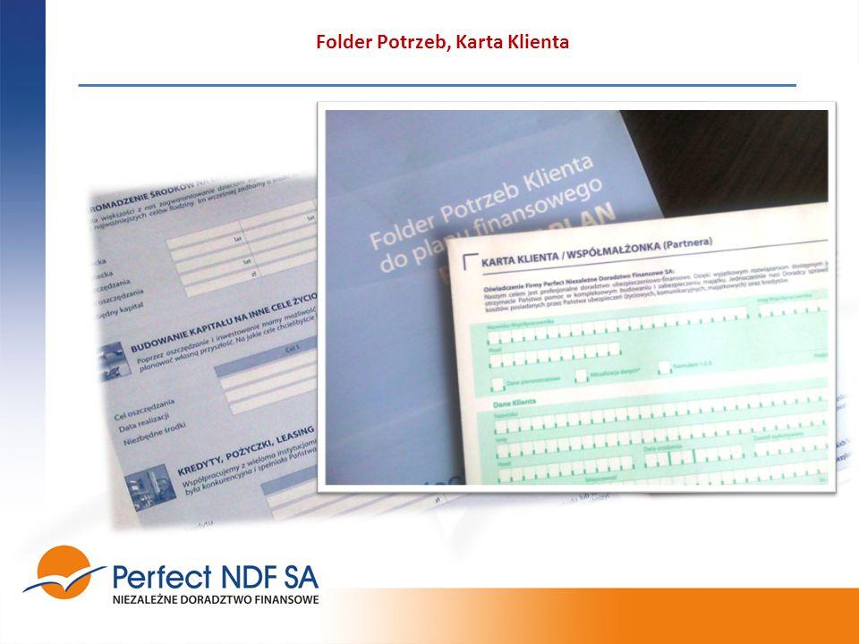 Folder Potrzeb, Karta Klienta