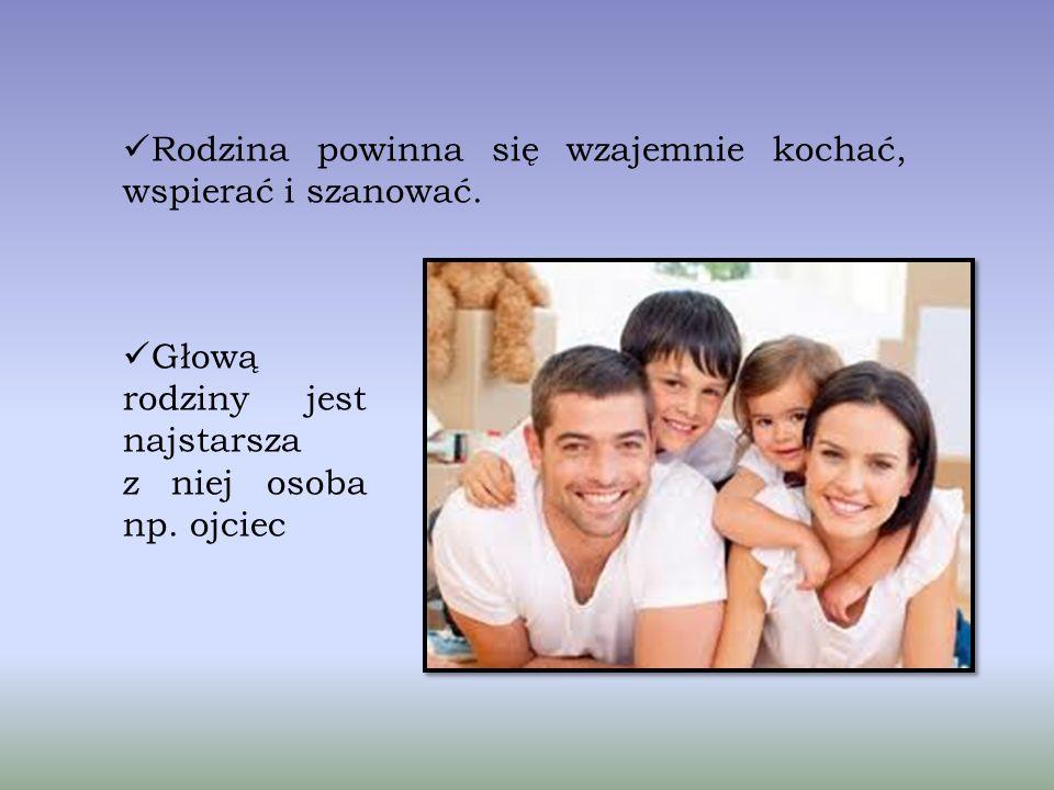 Rodzina jest postawową grupą społeczną. Główną funkcją rodziny jest wychowanie dzieci przez rodziców. Wyróżniamy kilka rodzajów rodzin, w zależności o