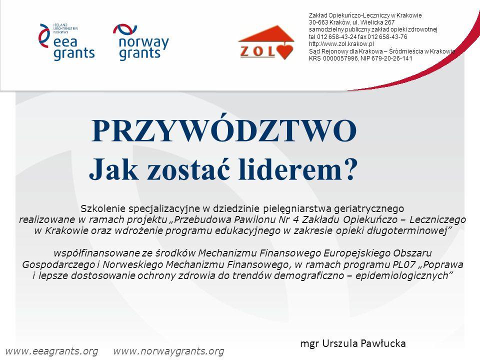 Zakład Opiekuńczo-Leczniczy w Krakowie 30-663 Kraków, ul. Wielicka 267 samodzielny publiczny zakład opieki zdrowotnej tel 012 658-43-24 fax 012 658-43