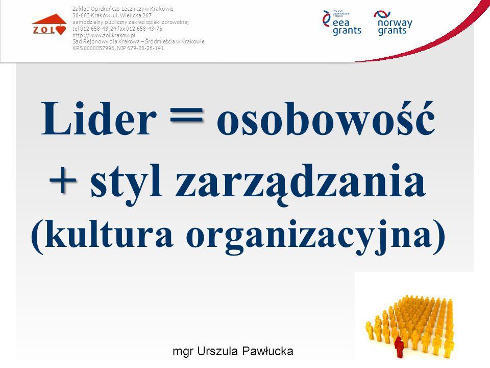 mgr Urszula Pawłucka Zakład Opiekuńczo-Leczniczy w Krakowie 30-663 Kraków, ul. Wielicka 267 samodzielny publiczny zakład opieki zdrowotnej tel 012 658