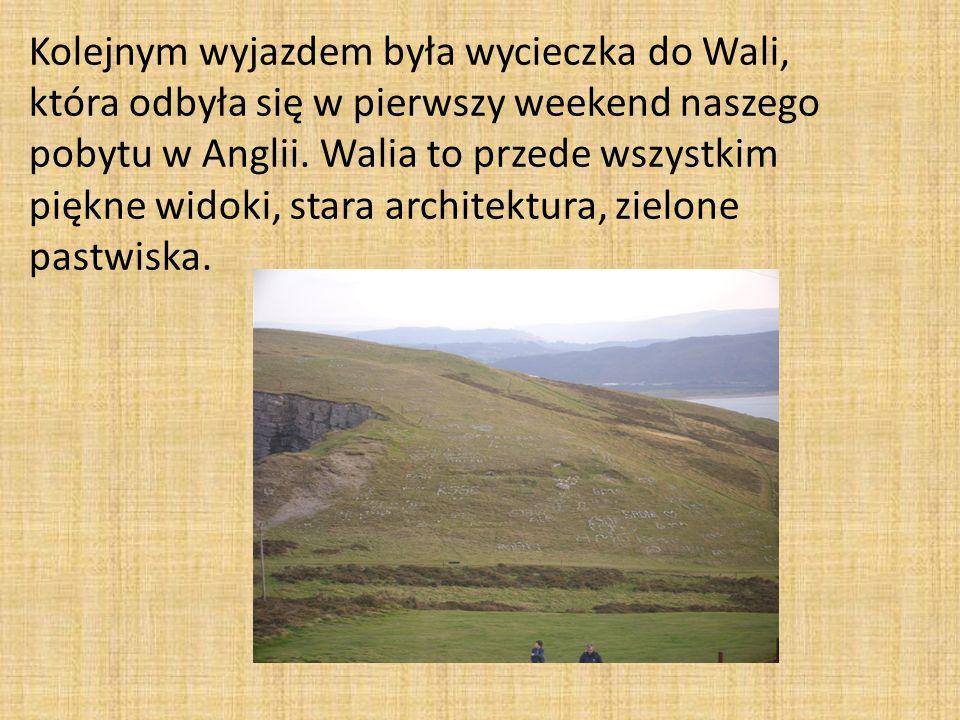 Kolejnym wyjazdem była wycieczka do Wali, która odbyła się w pierwszy weekend naszego pobytu w Anglii.