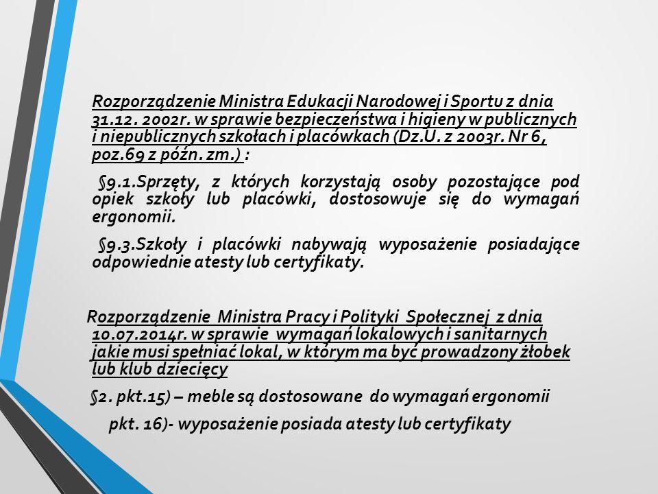 Rozporządzenie Ministra Edukacji Narodowej i Sportu z dnia 31.12.