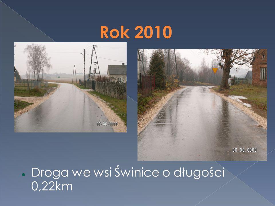Rok 2010 Droga we wsi Świnice o długości 0,22km