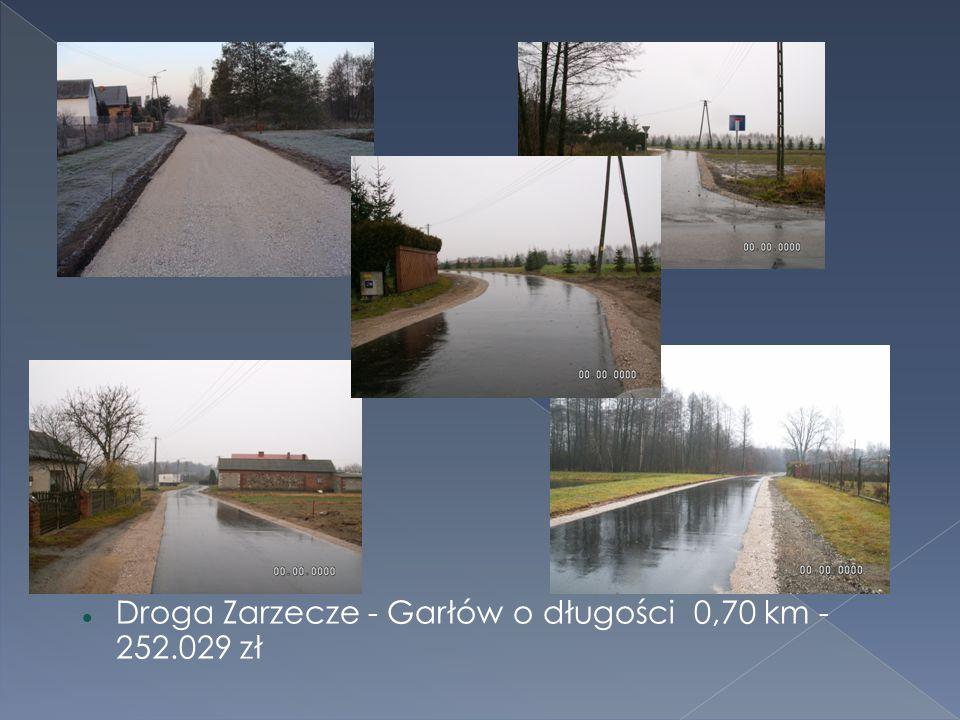 Droga Zarzecze - Garłów o długości 0,70 km - 252.029 zł