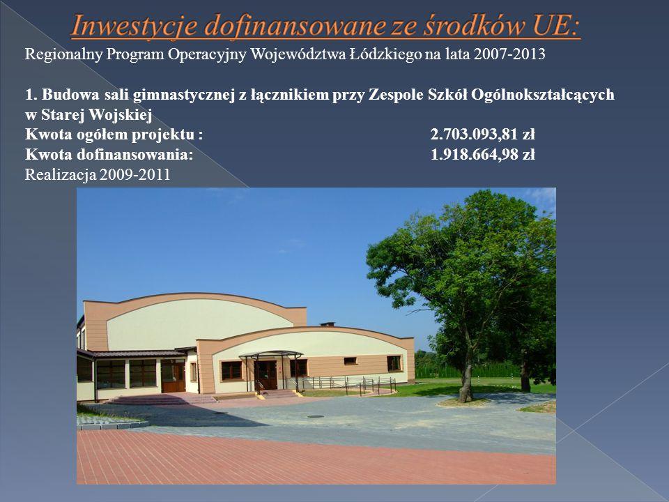 Regionalny Program Operacyjny Województwa Łódzkiego na lata 2007-2013 1.