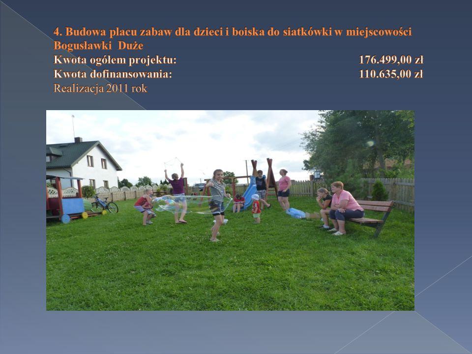  Boguszyce - Soszyce (0,275 km) - 35.255,38 zł  Boguszyce (Glizna) (0,540 km) - 67.664,10 zł  Realizacja 2014 rok
