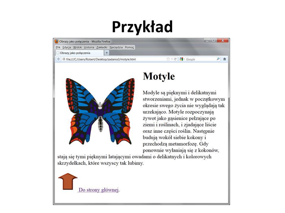 Zmiana koloru tekstu całej strony text – określa kolor każdego fragmentu tekstu na stronie, który nie jest połączeniem razem z nagłówkami, tekstem w tabelach itp.