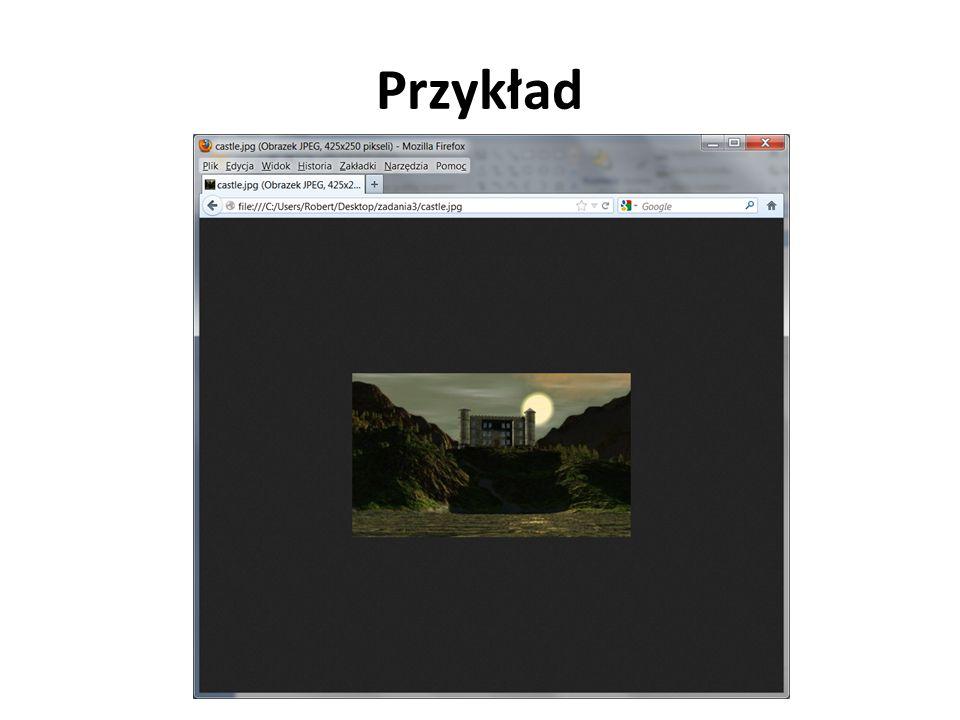 Obrazy zewnętrzne Aby po kliknięciu na miniaturę obrazu możliwe było zobaczenie powiększenia należy umieścić znacznik pomiędzy otwierającym i zmykającym znacznikiem prowadzącym do powiekszonego obrazu: