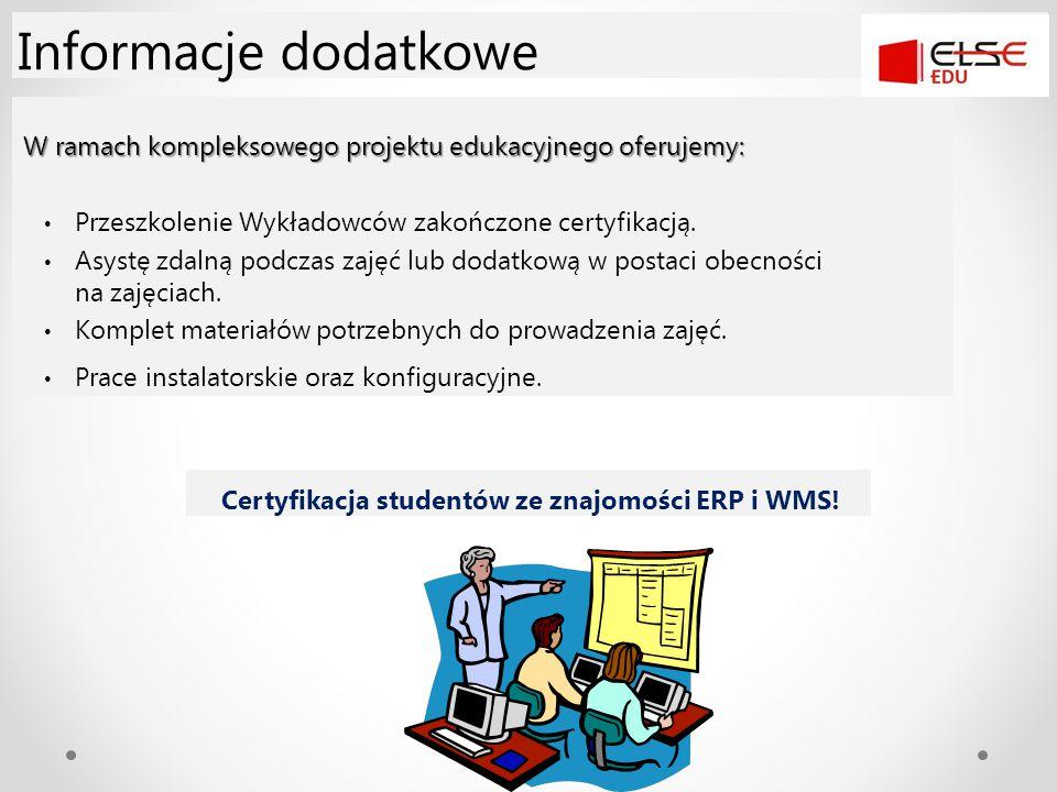W ramach kompleksowego projektu edukacyjnego oferujemy: Przeszkolenie Wykładowców zakończone certyfikacją. Asystę zdalną podczas zajęć lub dodatkową w
