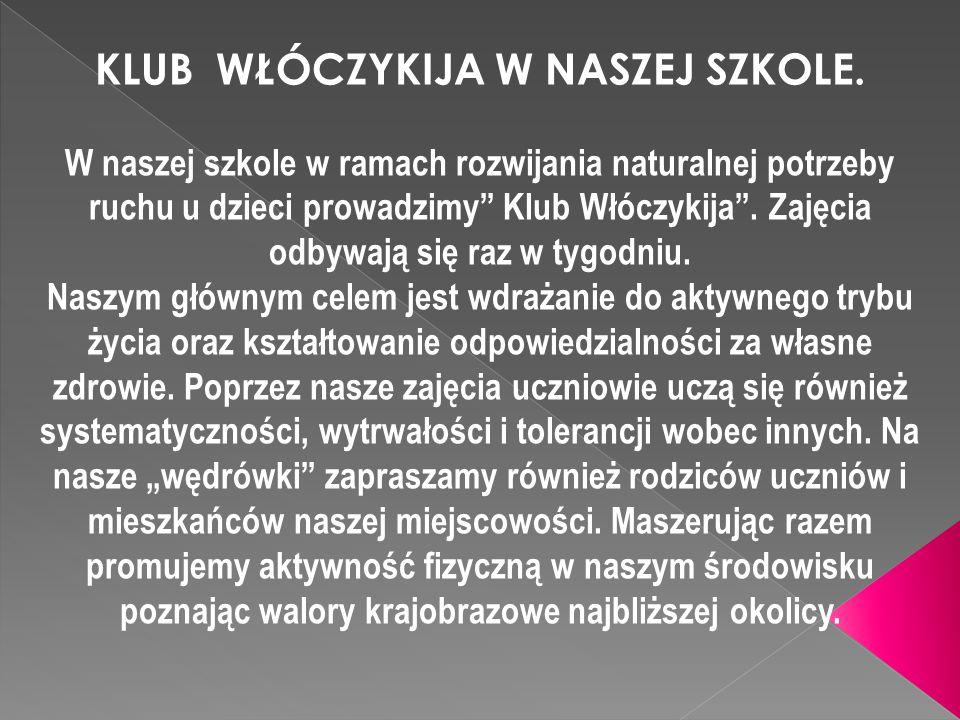 KLUB WŁÓCZYKIJA W NASZEJ SZKOLE.