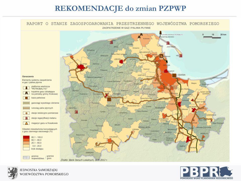 REKOMENDACJE do zmian PZPWP Infrastruktura techniczna: ustabilizowanie struktury przestrzennej gazociągów wysokiego ciśnienia wraz z systemem Kawernow
