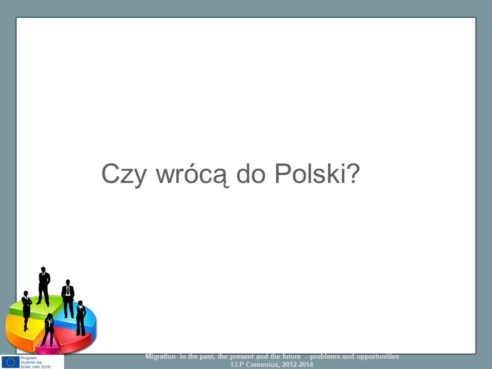 Czy wrócą do Polski? Migration in the past, the present and the future - problems and opportunities LLP Comenius, 2012-2014