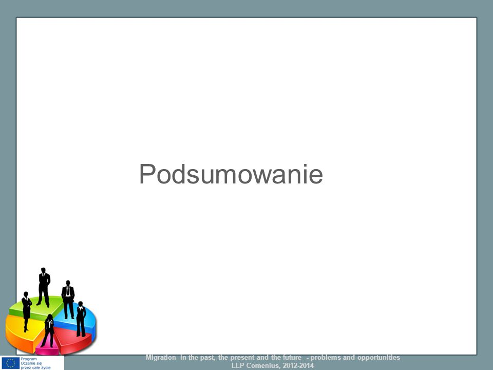 Podsumowanie Migration in the past, the present and the future - problems and opportunities LLP Comenius, 2012-2014