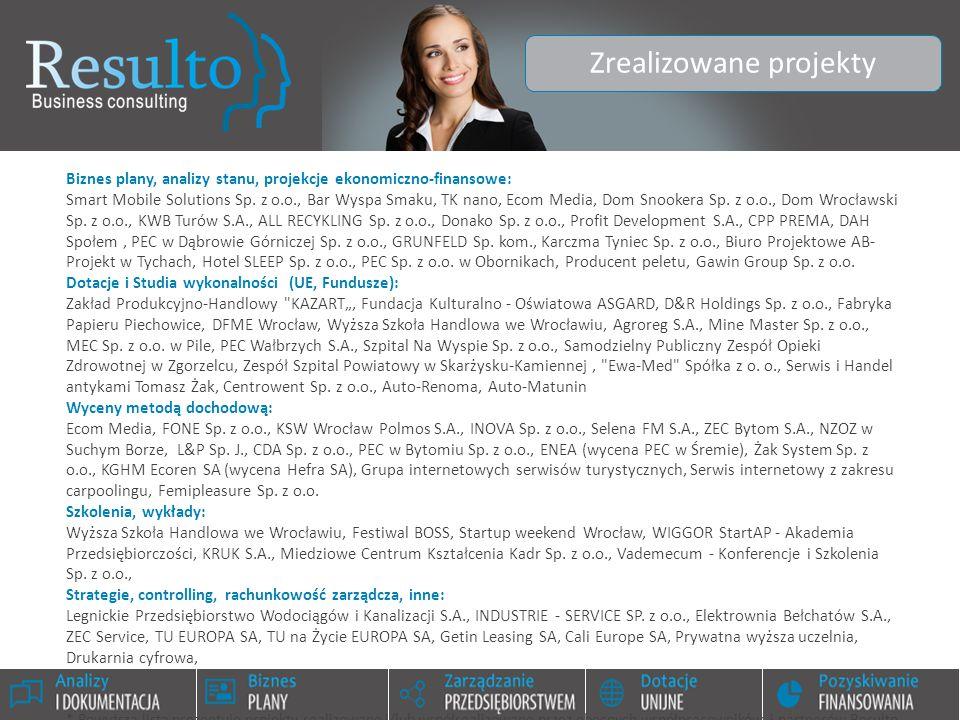 Biznes plany, analizy stanu, projekcje ekonomiczno-finansowe: Smart Mobile Solutions Sp. z o.o., Bar Wyspa Smaku, TK nano, Ecom Media, Dom Snookera Sp