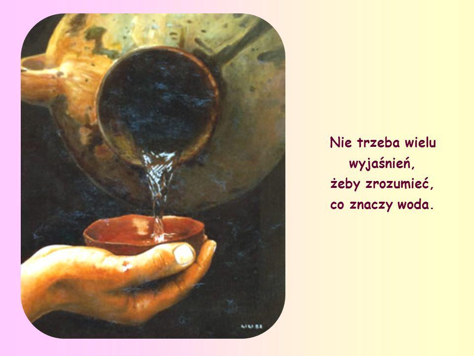 W rozmowie z samarytanką przy studni Jakubowej - która wśród opowieści Ewangelicznych lśni niczym perła - Jezus mówi o wodzie jako o żywiole najprosts