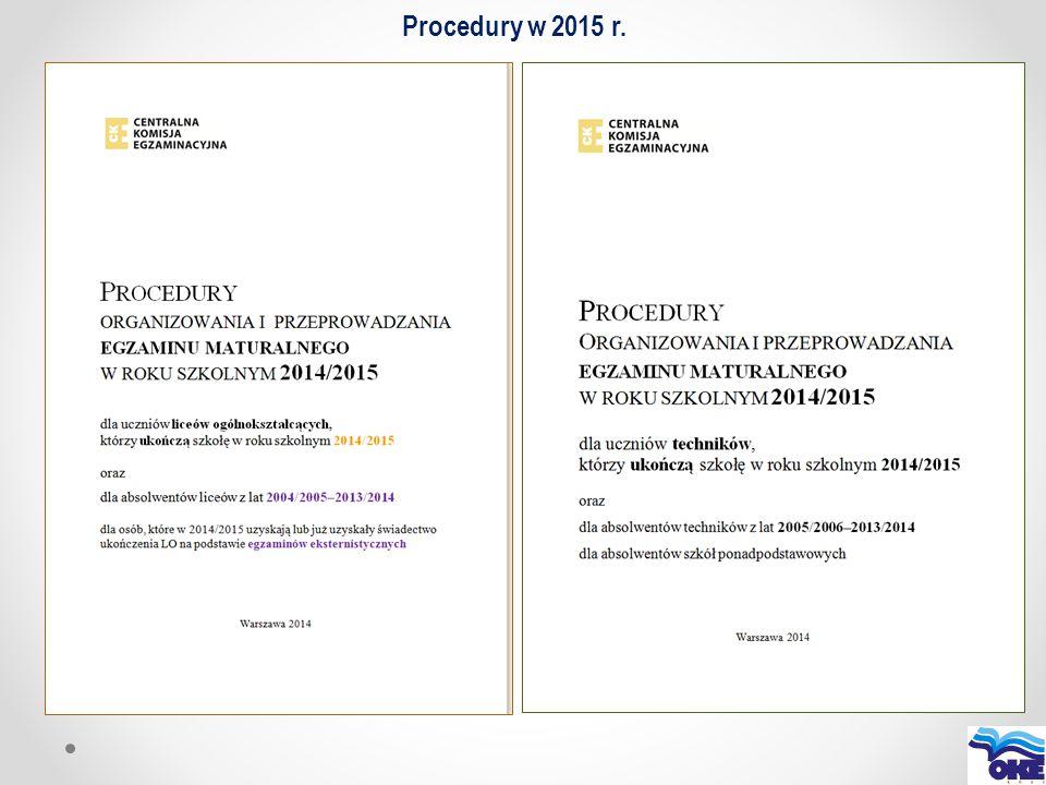 Egzamin ustny z języka polskiego dla absolwentów liceów ogólnokształcących w roku szkolnym 2014/2015 11 maja 2015 r.