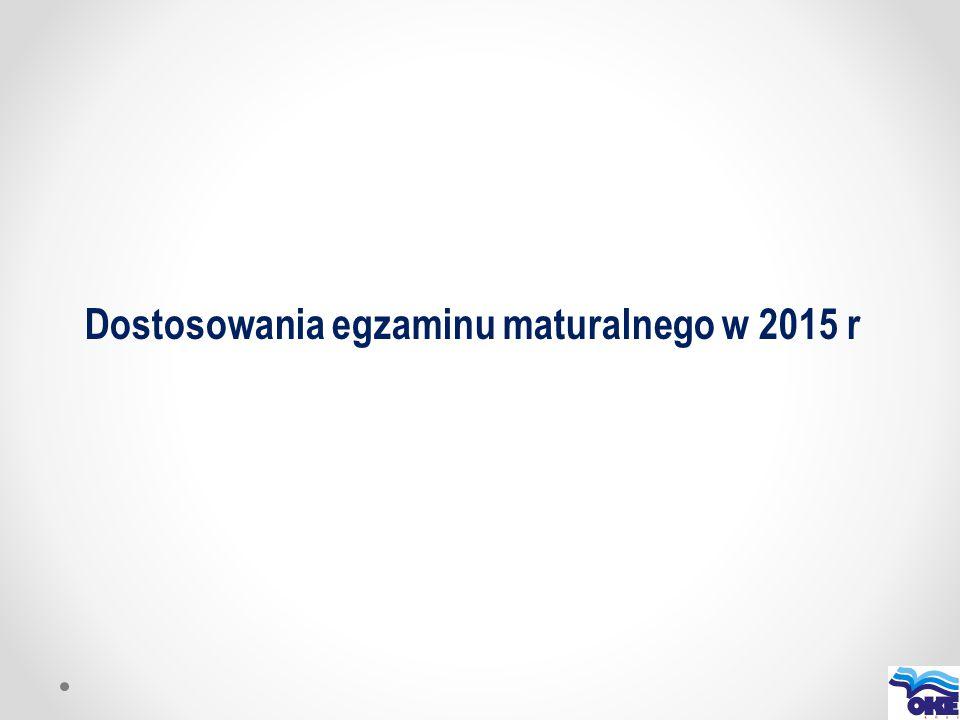 Dostosowania egzaminu maturalnego w 2015 r
